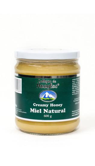 miel natural en crema