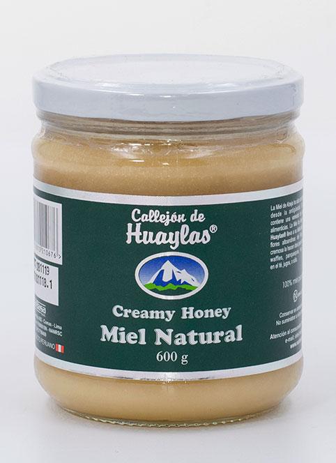 miel de abeja natural en crema