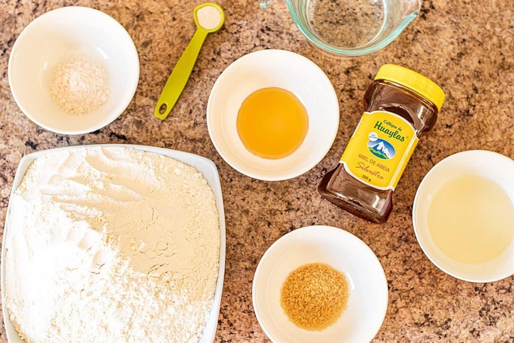 ingredientes para hacer pan casero